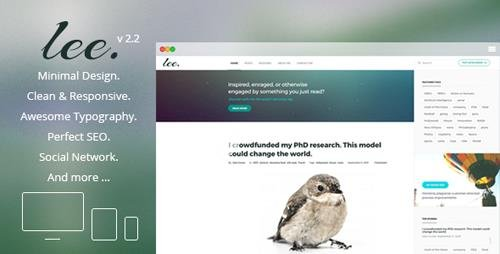 ThemeForest - Lee Blog v2.2 - Minimal and Creative WordPress Theme - 12872864