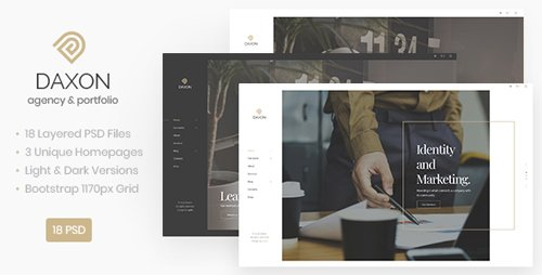 ThemeForest - Daxon v1.0 - Agency / Portfolio PSD Template - 23160693