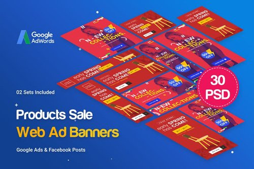 Products Sale Banners Ad - RRZJ4B
