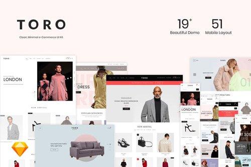 TORO - Clean, Minimal e-Commerce UI Kit