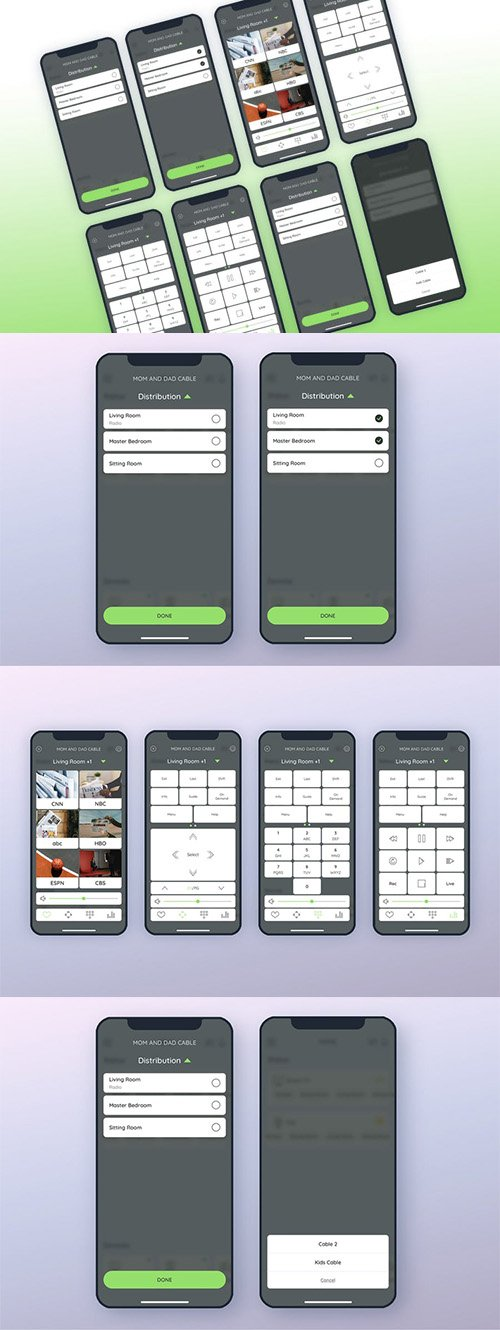 Cable Smarthome Mobile UI - FP