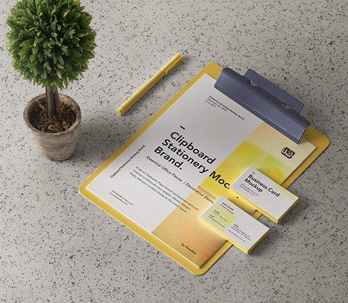 Clipboard Stationery Mockup Brand