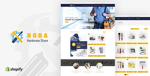 ThemeForest - Nora v1.0 - Hardware Store Shopify theme - 21707638