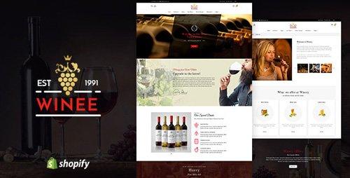 ThemeForest - Winee v1.1 - Wine, Winery Shopify Theme - 22625078