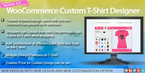 CodeCanyon - WooCommerce Custom T-Shirt Designer v2.0.7 - 5185471