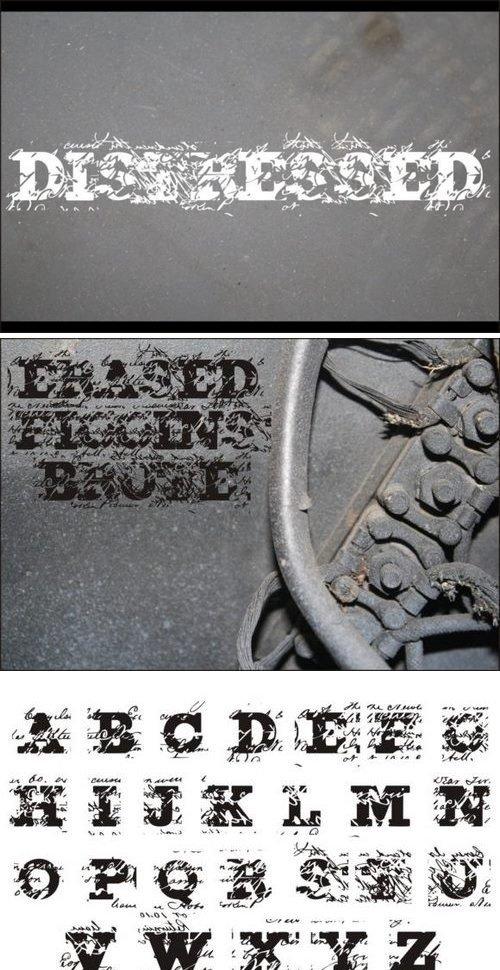 Erased Figgins Brute Font