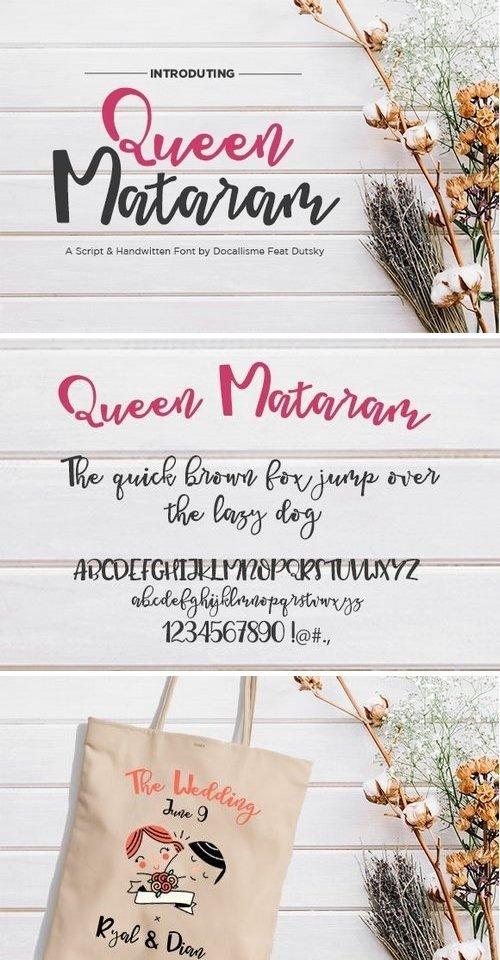Queen Mataram Font