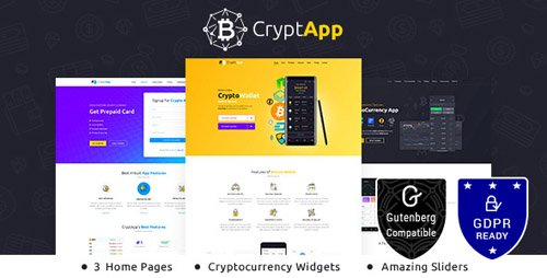 ThemeForest - CryptApp v1.3 - Landing Page - Cryptocurrency Landing Page Theme - 21586310