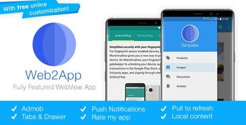 CodeCanyon - Web2App v3.3 - Quickest Feature-Rich Android Webview - 8980493