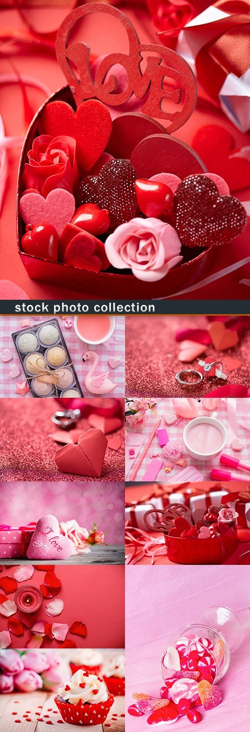St. Valentine's Day romantic design and registration