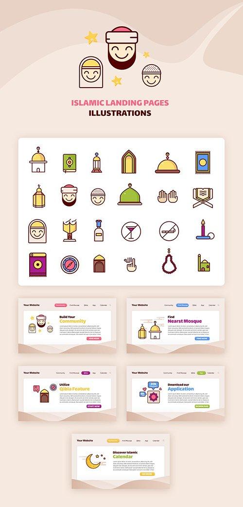 Islamic Landing Page Illustration
