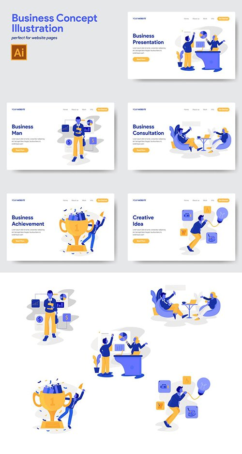 5 Business Concept Illustrations