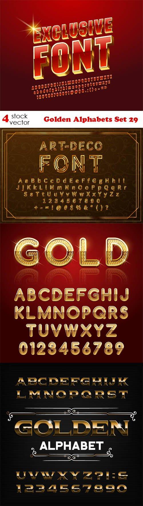 Vectors - Golden Alphabets Set 29