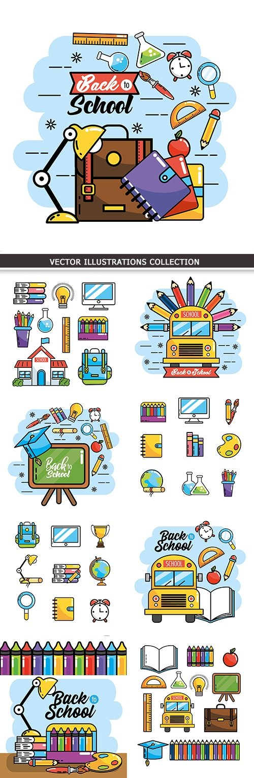 Back to school education collection vector elements # 10
