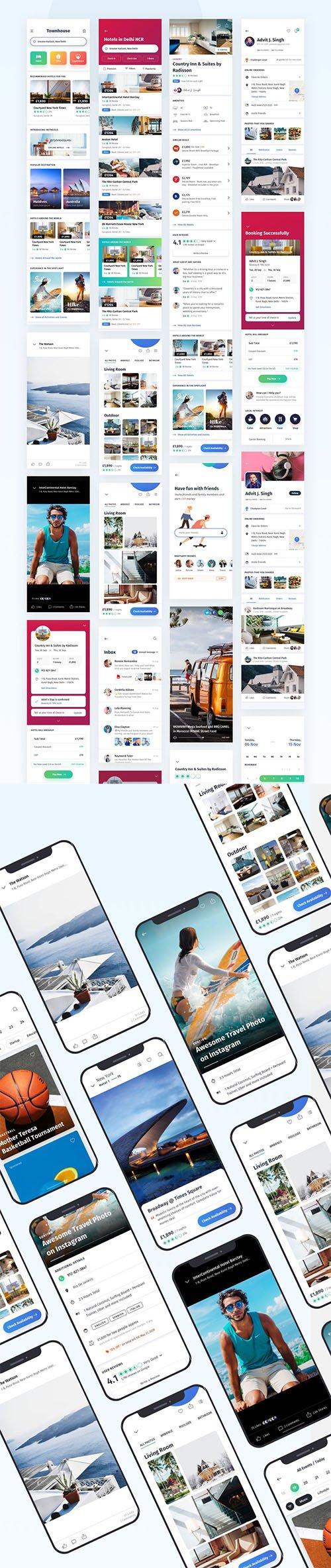 Townhouse Mobile App UI Kit