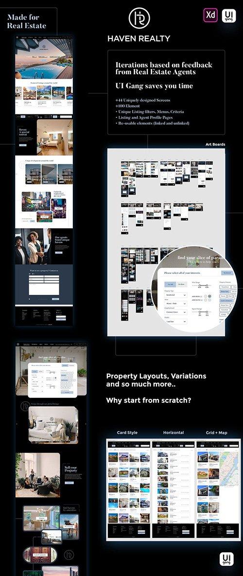 Haven Real Estate Web UI Kit - Realtor