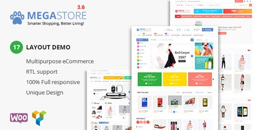 ThemeForest - Mega Store v3.6 - Super Market RTL Responsive WooCommerce WordPress Theme - 16846286