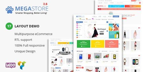 ThemeForest - Mega Store v3.6 - Super Market RTL Responsive WooCommerce WordPress Theme - 16846286