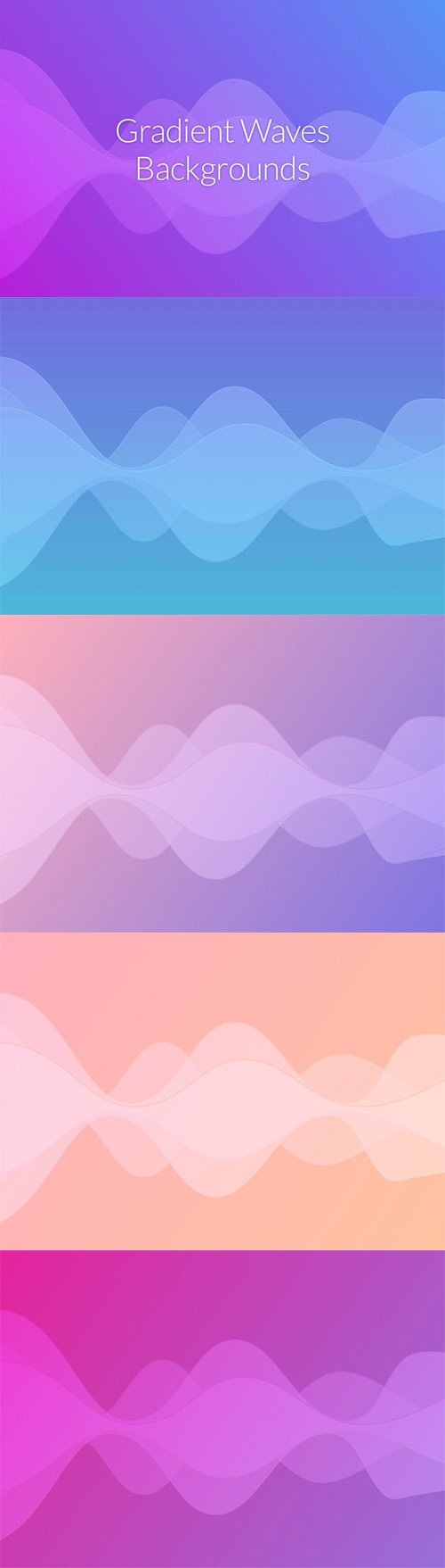 Gradient Waves Backgrounds