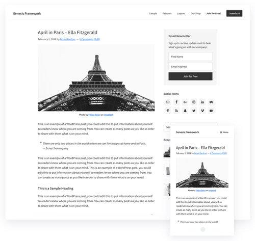 Genesis Framework v2.8.0 - WordPress Theme - StudioPress