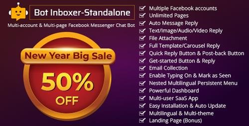 CodeCanyon - Bot Inboxer v2.2 - Standalone : Multi-account & Multi-page Facebook Messenger Chat Bot - 22285301 - NULLED