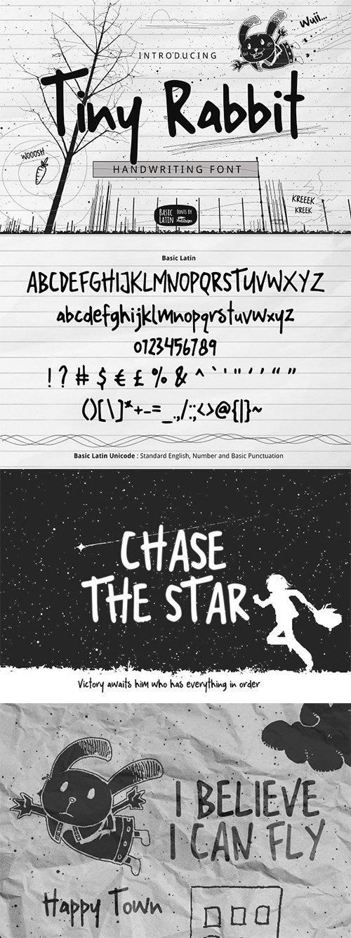 Tiny Rabbit Handwriting Font 3352272