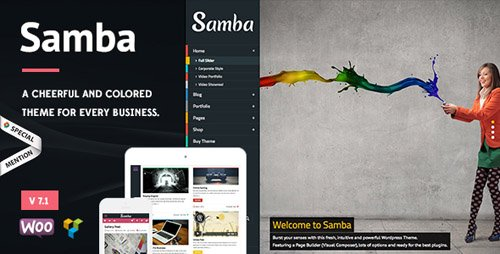 ThemeForest - Samba v7.0 - Colored WordPress Theme - 5691055