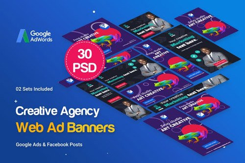 Creative Agency, Startup Banners Ad - 9BLXRU