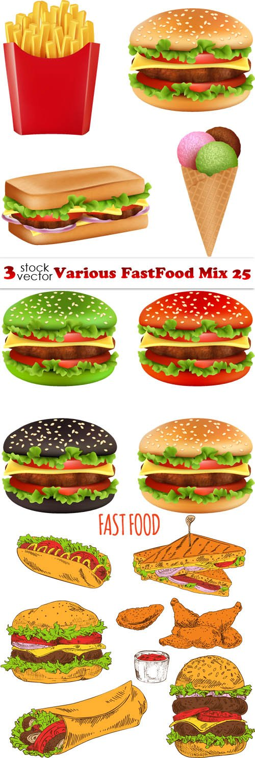 Vectors - Various FastFood Mix 25
