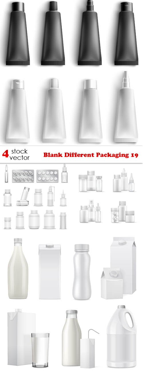 Vectors - Blank Different Packaging 19