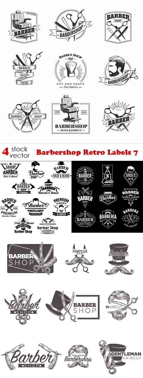 Vectors - Barbershop Retro Labels 7