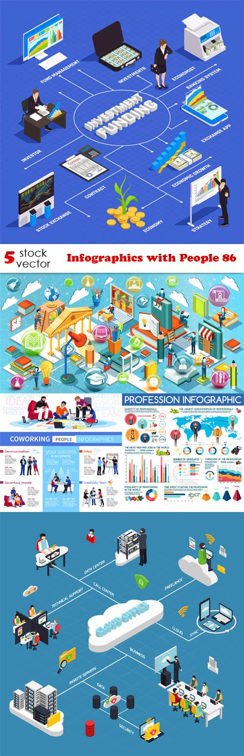 Vectors - Infographics with People 86