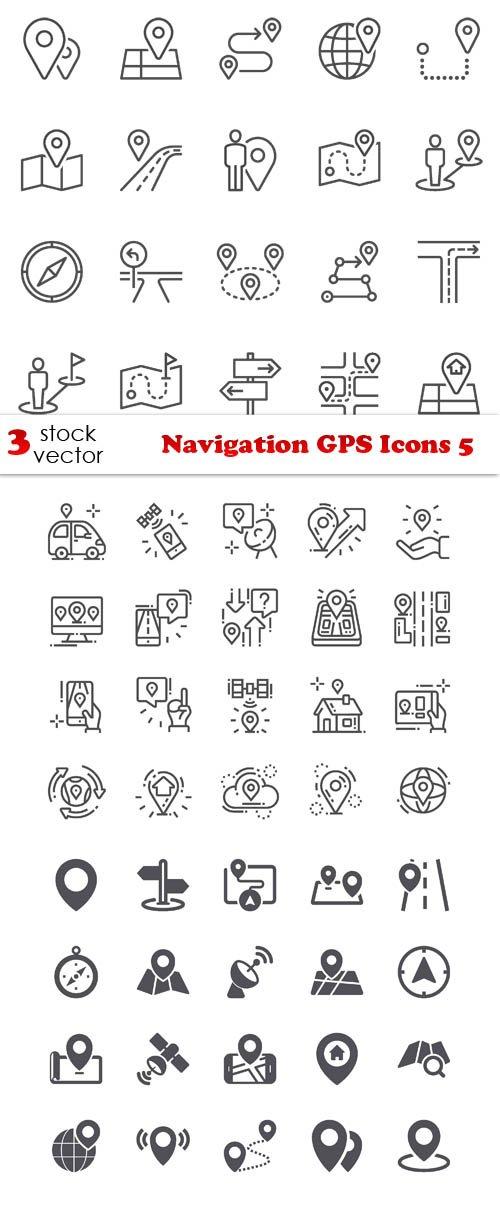 Vectors - Navigation GPS Icons 5