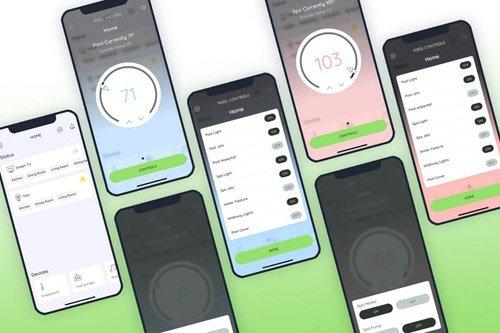 Pool and Spa Smarthome Mobile UI - FP