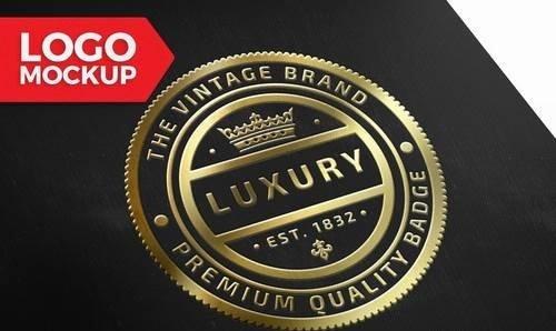 Gold Logo Mock-Up