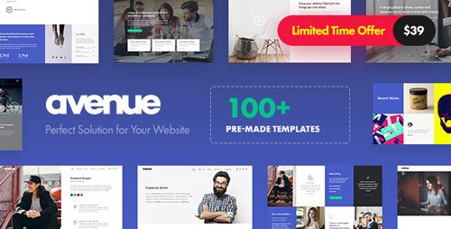 ThemeForest - Avenue v1.2 - Creative Multi-Purpose WordPress Theme (Update: 9 August 18) - 20463432