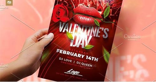 Valentines Day Flyer Psd 3331188