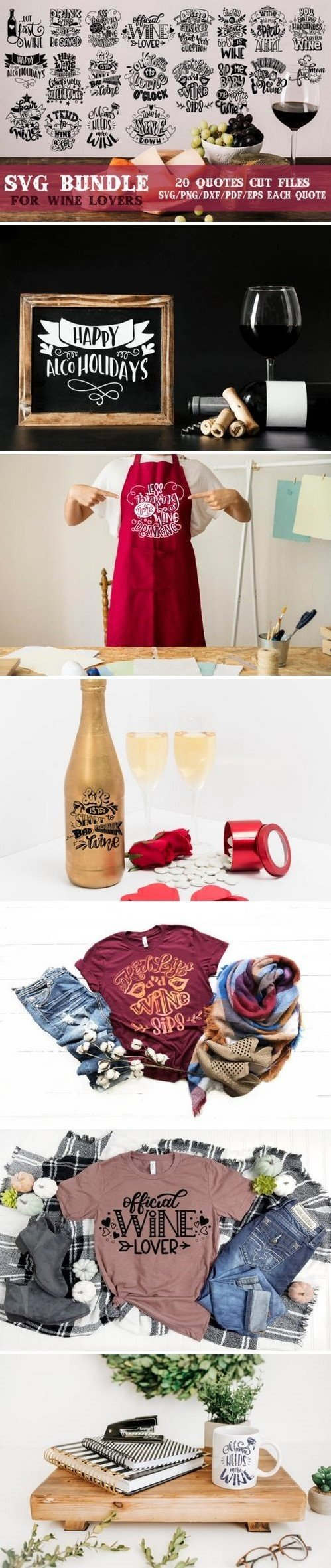 Wine lovers SVG Bundle 894828