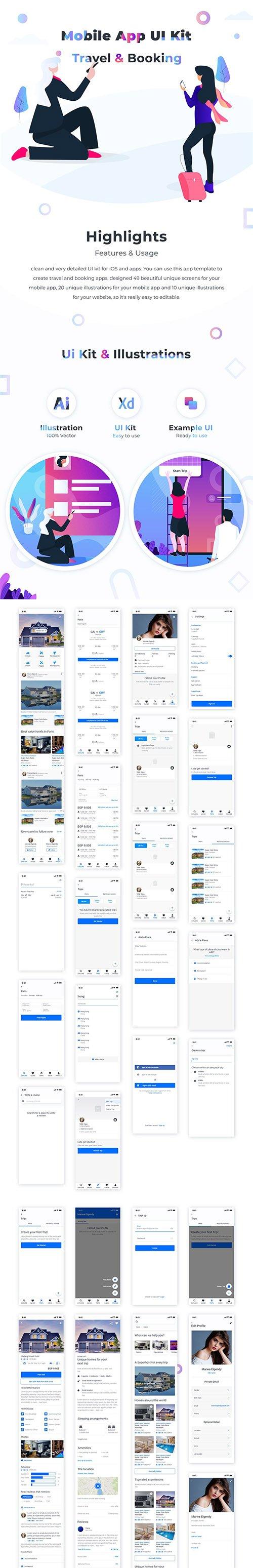 Travel & Booking UI kit