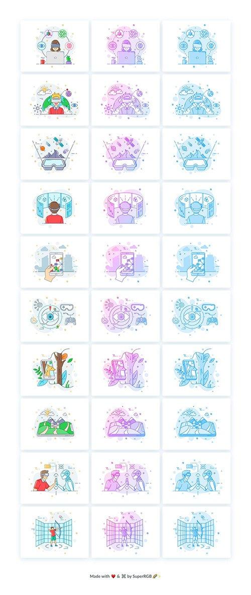 AR / VR Illustrations