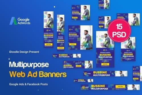 Multipurpose, Business, Startup Banners Ad - 77RE78