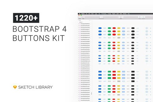 Buttons Kit - Sketch Library mButtons