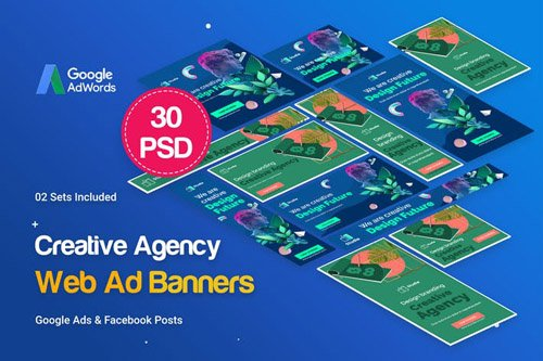 Creative Agency, Startup Banners Ad - Z74V9N