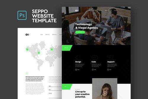 Seppo - Corporate One Page PSD Template