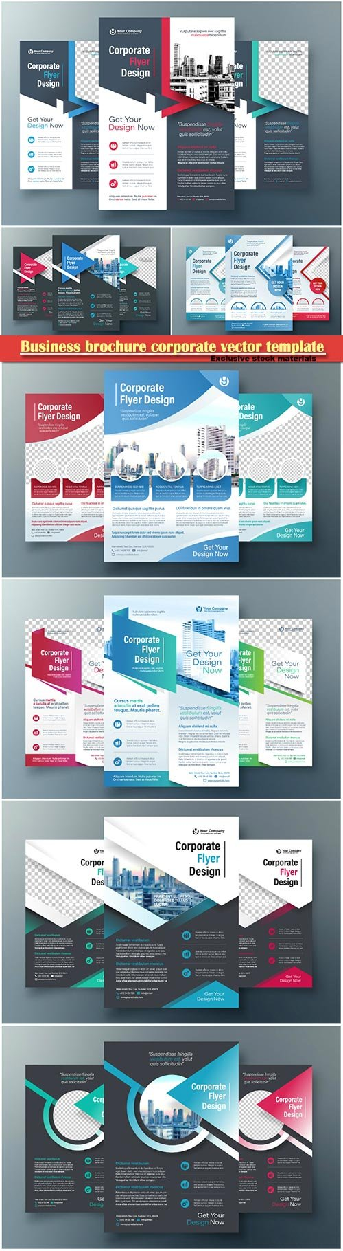 Business brochure corporate vector template, magazine flyer mockup # 11