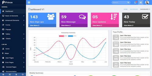 CodeSter - Prince v1.0 - Responsive Admin Template - 7216