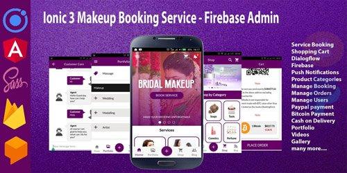 CodeSter - Ionic 3 Makeup Booking Service - Firebase Admin v1.0 - 7377