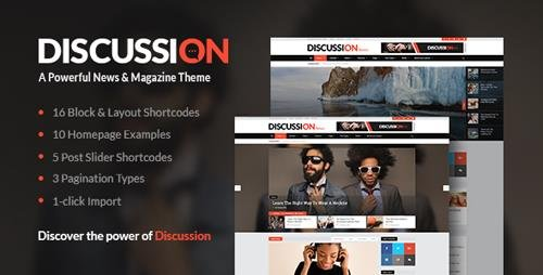 ThemeForest - Discussion v1.7 - News Theme - 15285527
