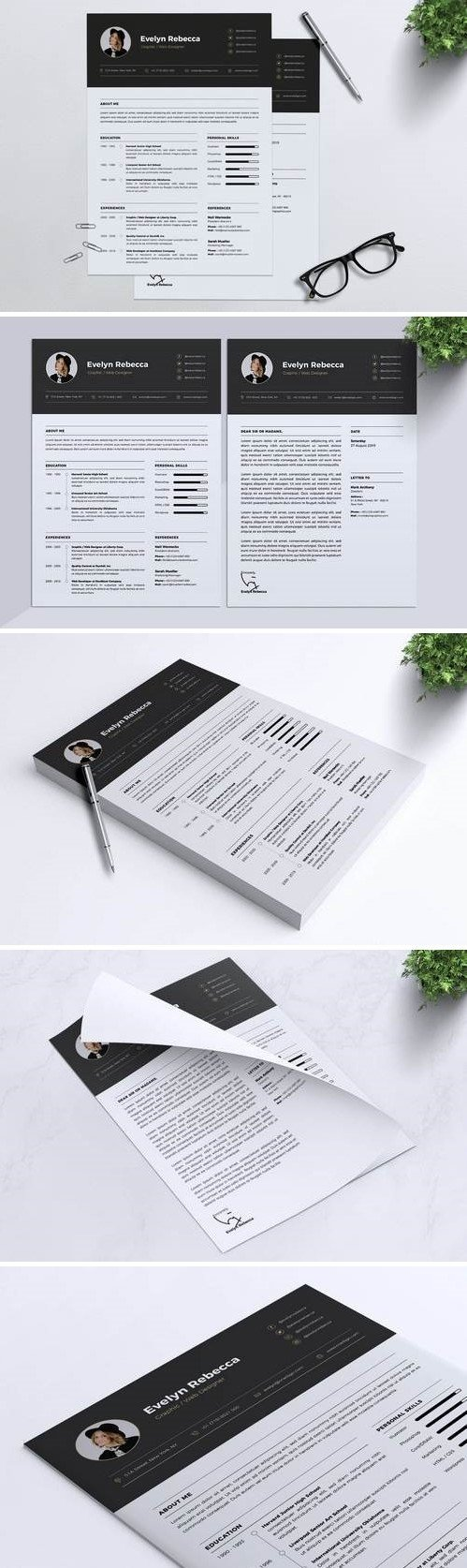 Minimalist CV Resume Vol. 07