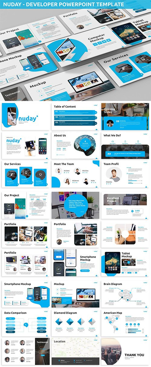Nuday - Developer Powerpoint Template